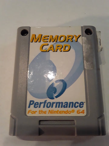 N64 Memory Cards Performance Used