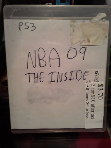 NBA 09 The Inside Basketball 2009 Used PS3 Video Game