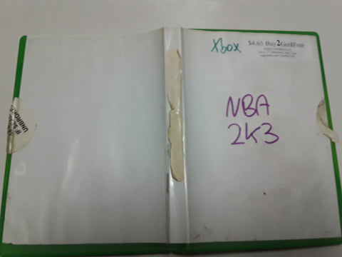 NBA 2K3 Basketball Used Original Xbox Video Game