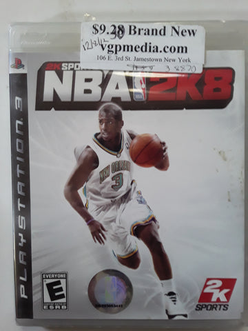 NBA 2K8 2K Sports Basketball PS3 Video Game BRAND NEW SEALED