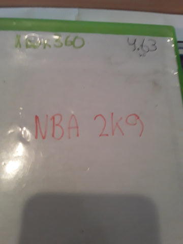 NBA 2K9 Basketball 2009 Used Xbox 360 Video Game