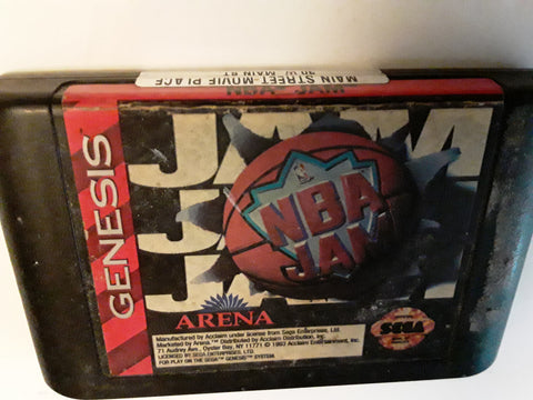 NBA Jam Basketball Used Sega Genesis Video Game