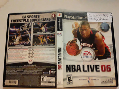 NBA Live 06 Basketball 2006 USED PS2 Video Game