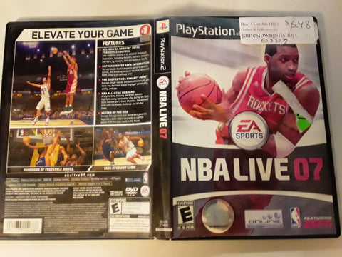 NBA Live 07 Basketball 2007 USED PS2 Video Game