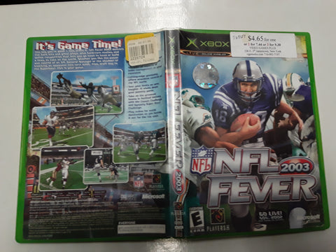 NFL Fever 2003 Football Used Original Xbox Video Game
