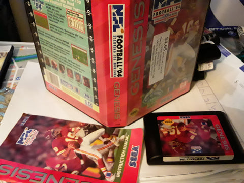 NFL Football 94 Starring Joe Montana With Case Used Sega Genesis Video Game