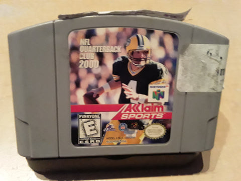 NFL Quarterback Club 2000 Football Used N64 Video Game