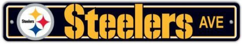 Pittsburgh Steelers NFL Street Sign 4x24