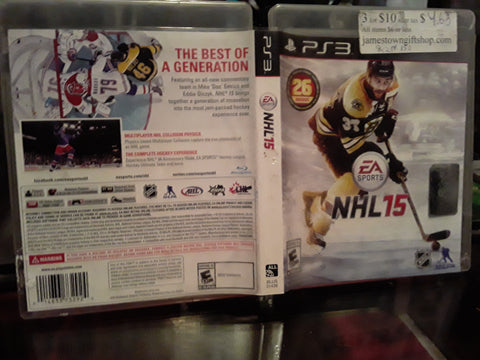 NHL 15 Hockey 2015 Used PS3 Video Game