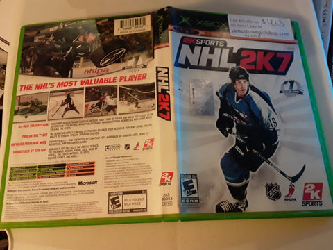NHL 2K7 Hockey Used Original Xbox Video Game