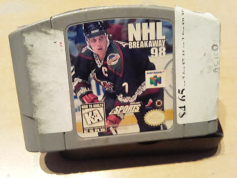 NHL Breakaway 98 Hockey Used N64 Video Game