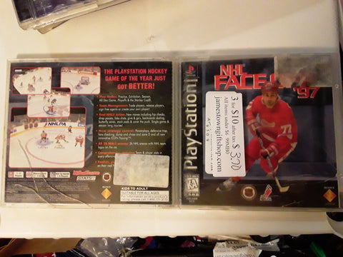 NHL Faceoff 97 Hockey 1997 Used Playstation 1 Video Game