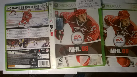 NHL 08 Hockey USED Xbox 360 Video Game