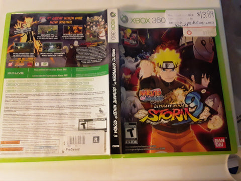 Naruto Ultimate Ninja Storm 3 Used Xbox 360 Video Game