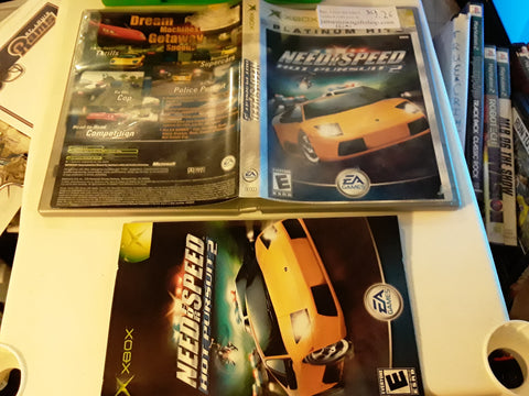 Need For Speed Hot Pursuit 2 Used Original Xbox Video Game