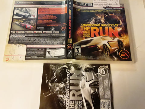 Need For Speed The Run Racing Used PS3 Video Game
