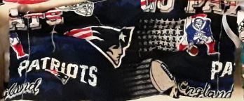 New England Patriots NFL Handmade 8.5 Inch Cotton Face Mask