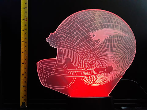 New England Patriots NFL JUMBO 9x8 inch Color-Changing LED Helmet Night Light Lamp
