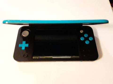 New Nintendo 2DS XL System Turquoise & Black USED FREE SHIPPING
