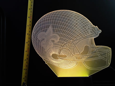 New Orleans Saints NFL JUMBO 9x8 inch Color-Changing LED Helmet Night Light Lamp