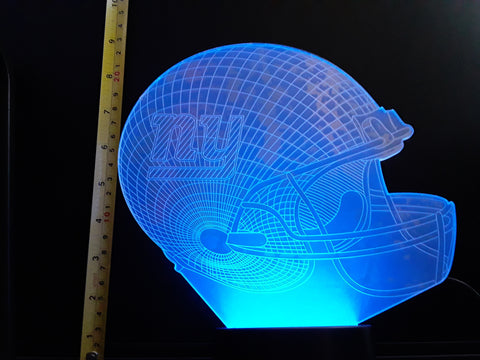 New York Giants NFL JUMBO 9x8 inch Color-Changing LED Helmet Night Light Lamp