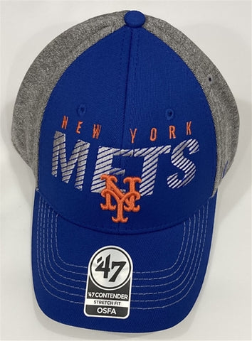 New York Mets MLB Gray Berwick Contender Stretch Fit Hat