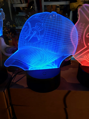 New York Yankees Baseball Cap MLB Color-Changing LED Night Light
