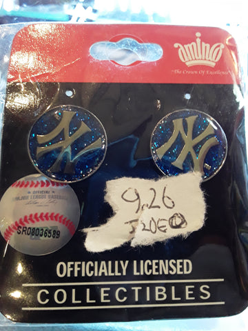 New York Yankees MLB Logo Earrings