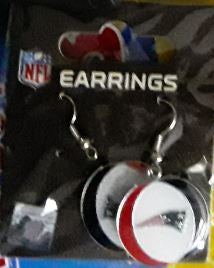 New England Patriots Round Logo NFL Earrings