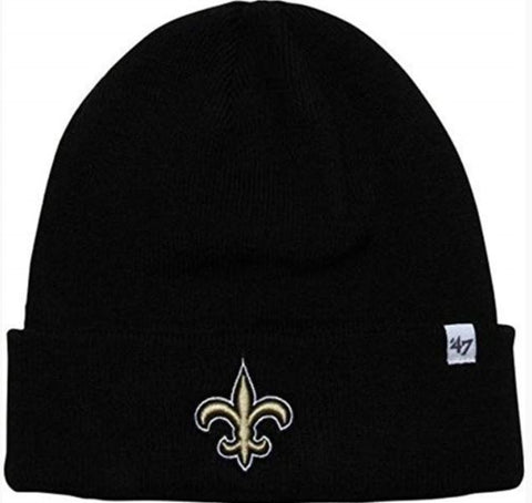 New Orleans Saints Black 47 Knit Cuff Beanie Hat