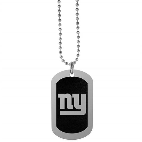 New York Giants NFL Black Chrome Dog Tag Necklace