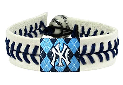 New York Yankees Argyle Seam MLB Bracelet