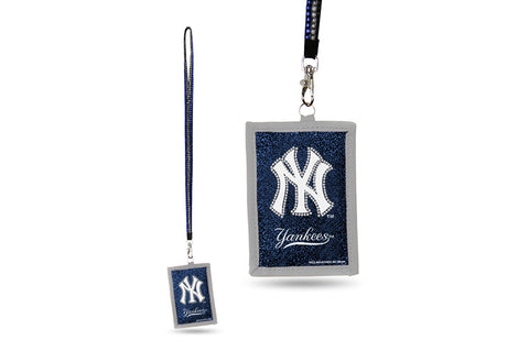 New York Yankees MLB Lanyard ID Holder With Zippered Compartment