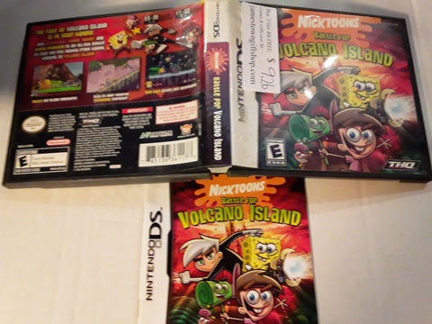 Nicktoons Battle For Volcano Island Used Nintendo DS Game