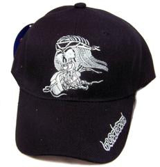 NIght Rider Skull Adjustable Baseball Cap