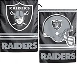 Oakland Raiders 12x18 inch Double Sided NFL Garden Flag Only