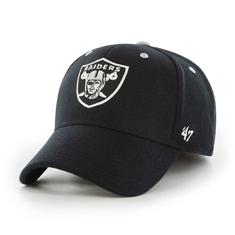 Oakland Raiders NFL Black Kick Off Contender Stretch Fit Cap Hat Size L XL