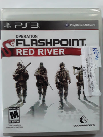Operation Flashpoint Red River PS3 Video Game BRAND NEW SEALED