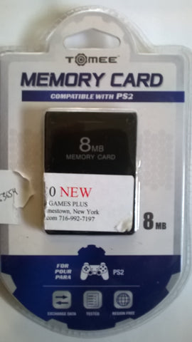 PS2 8MB Memory Card by Tomee BRAND NEW
