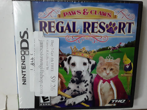 Paws & Claws Regal Resort Nintendo DS Video Game NEW