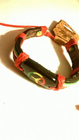 Pease Sign Rasta bracelet
