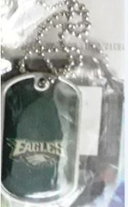 Philadelphia Eagles Color NFL Dog Tag Necklace