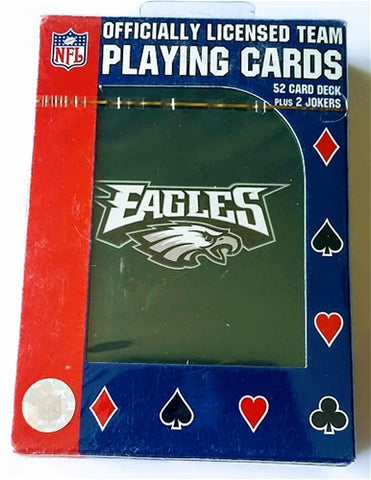 Philadelphia Eagles NFL Green Logo Playing Cards