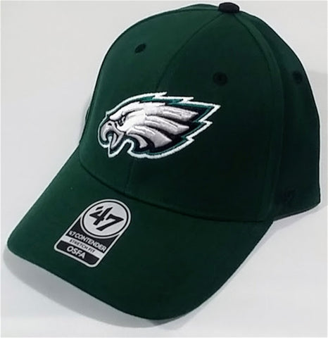 Philadelphia Eagles NFL Kick Off Dark Green Contender Stretch Fit Hat