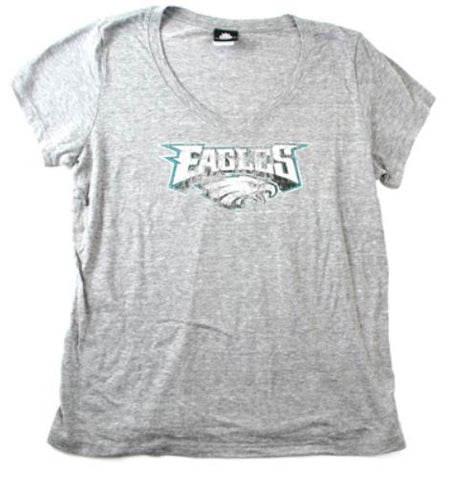 Philadelphia Eagles Women's Distressed Logo NFL T-Shirt LARGE