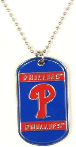 Philadelphia Phillies MLB Dog Tag Necklace