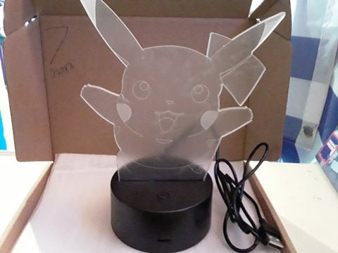 Pikachu Pokemon LED Light