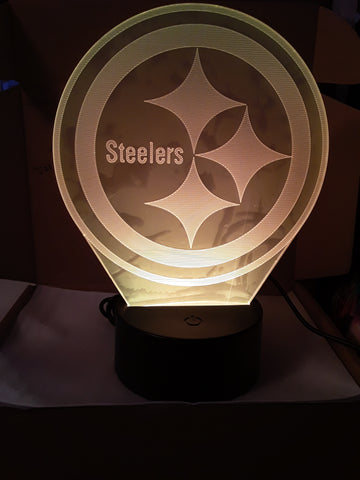 Pittsburgh Steelers Logo NFL LED Night Light Lamp