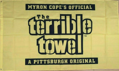 Pittsburgh Steelers  Myron Cope's Official Terrible Towel 3ft x 5ft NFL Flag