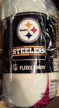 Pittsburgh Steelers NFL Blanket 50x60 Fleece Split Wide Design